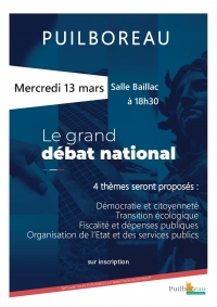 Le Grand Débat National à Puilboreau